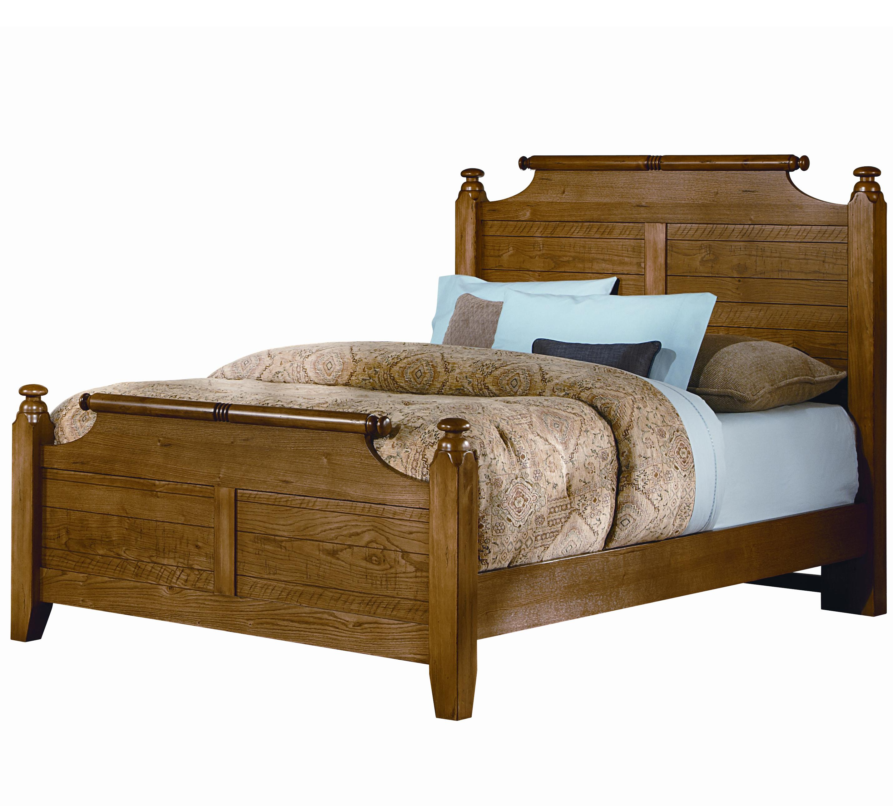 Vaughan Bassett Timber Mill Full Broomhandle Poster Bed - Item Number: BB54-557+755+911