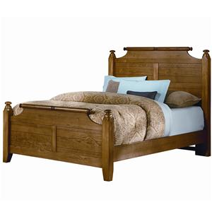 Vaughan Bassett Timber Mill Queen Broomhandle Poster Bed
