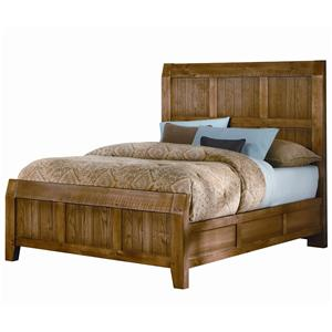 Vaughan Bassett Timber Mill Queen Timber Bed