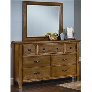 Vaughan Bassett Timber Mill Dresser And Landscape Mirror