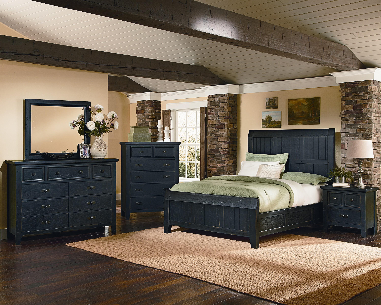 Vaughan Bassett Timber Mill Queen Bedroom Group - Item Number: BB56 Q Bedroom Group 1