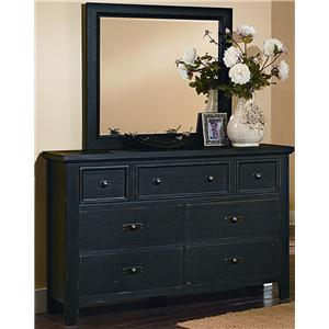 Vaughan Bassett Timber Mill Dresser And Landscape Mirror
