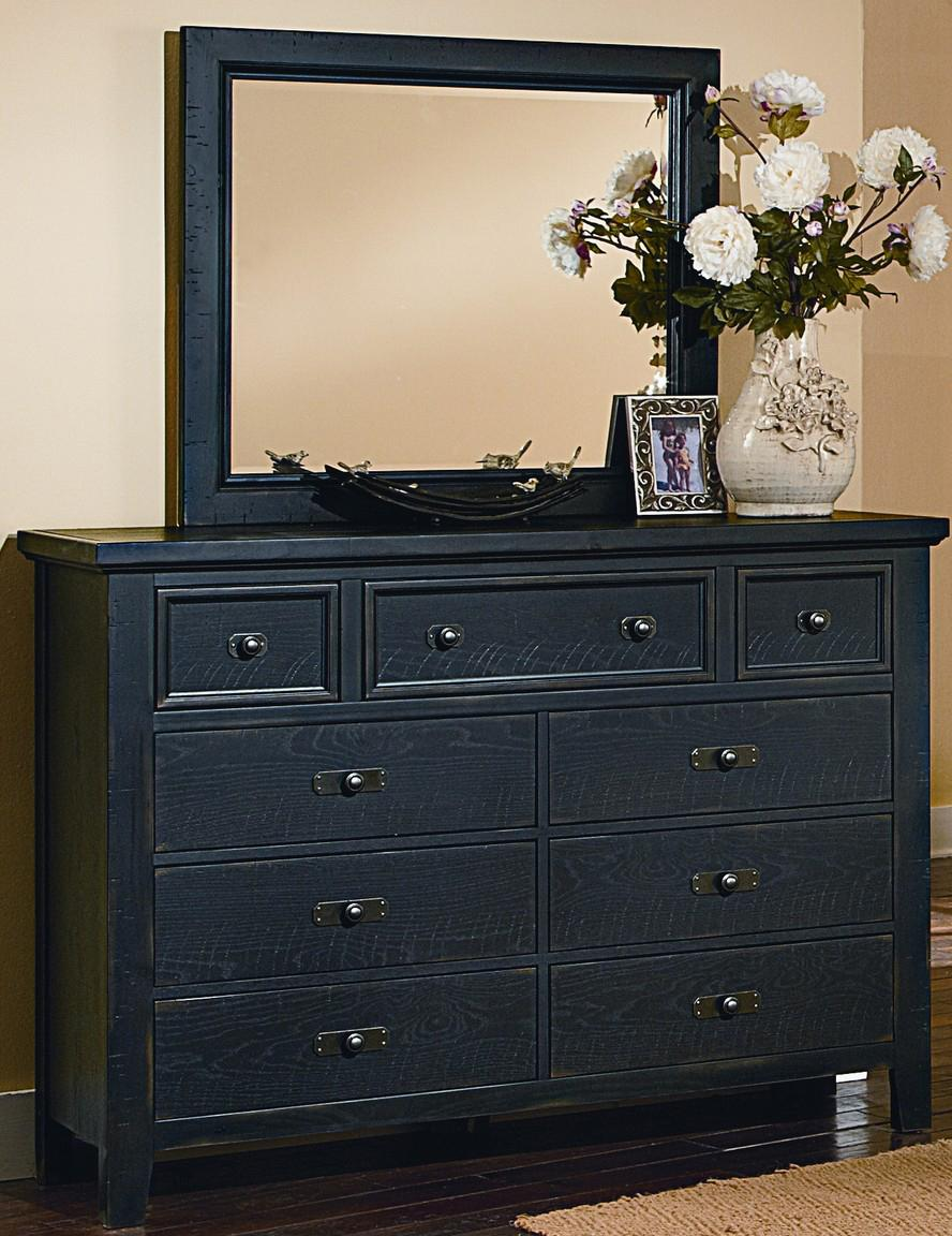 Vaughan Bassett Timber Mill Chesser With 9 Drawers and Mirror - Item Number: BB56-004+446