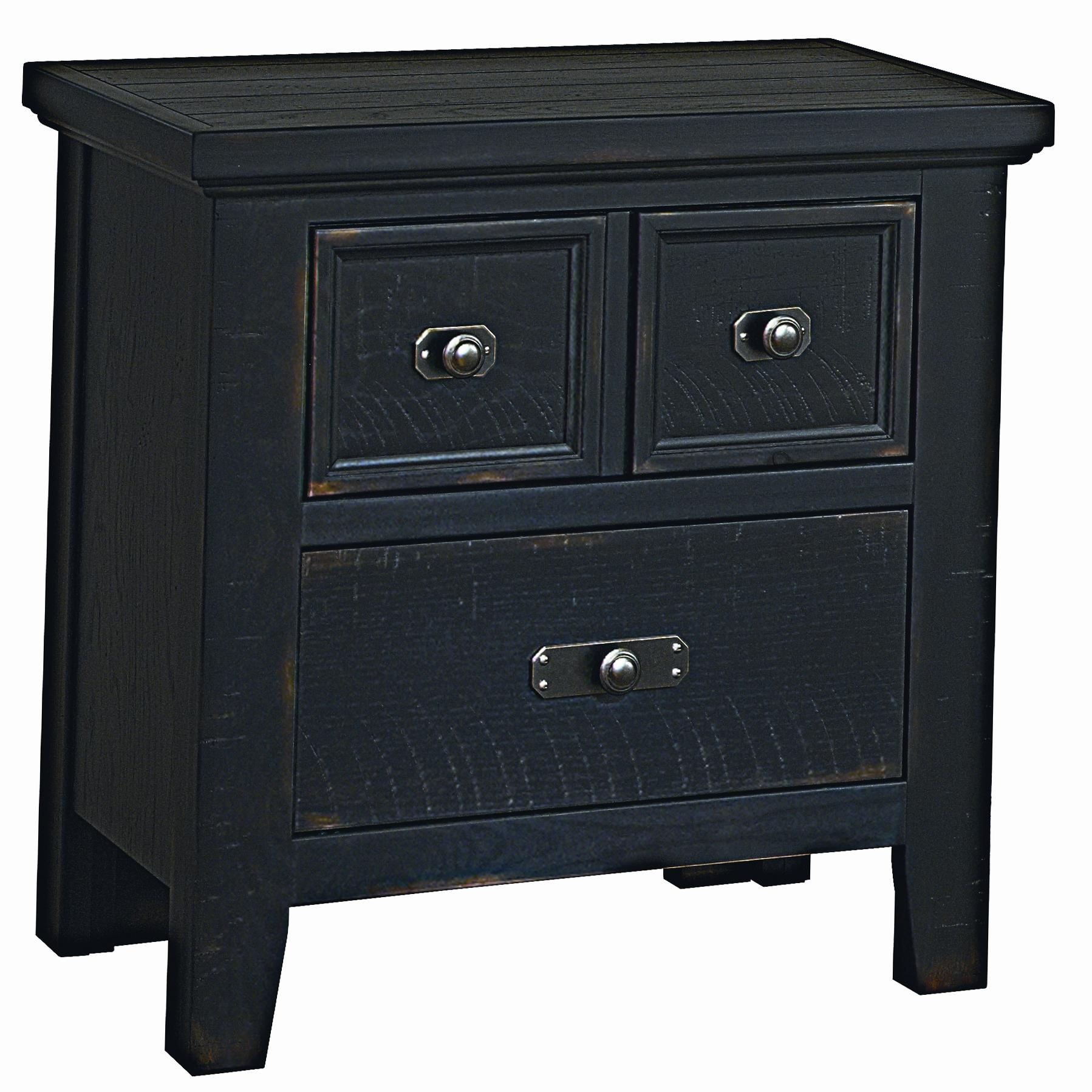 Vaughan Bassett Timber Mill Night Stand - 2 Drawers - Item Number: BB56-226