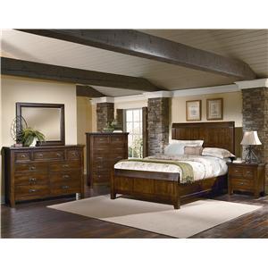 Vaughan Bassett Timber Mill Queen Bedroom Group