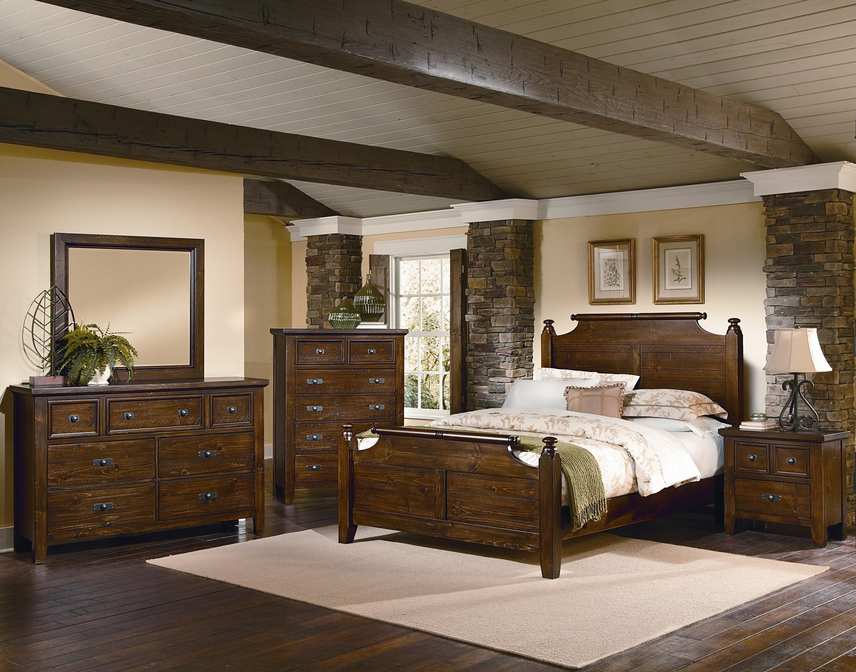 Vaughan Bassett Timber Mill Queen Bedroom Group - Item Number: BB58 Q Bedroom Group 2