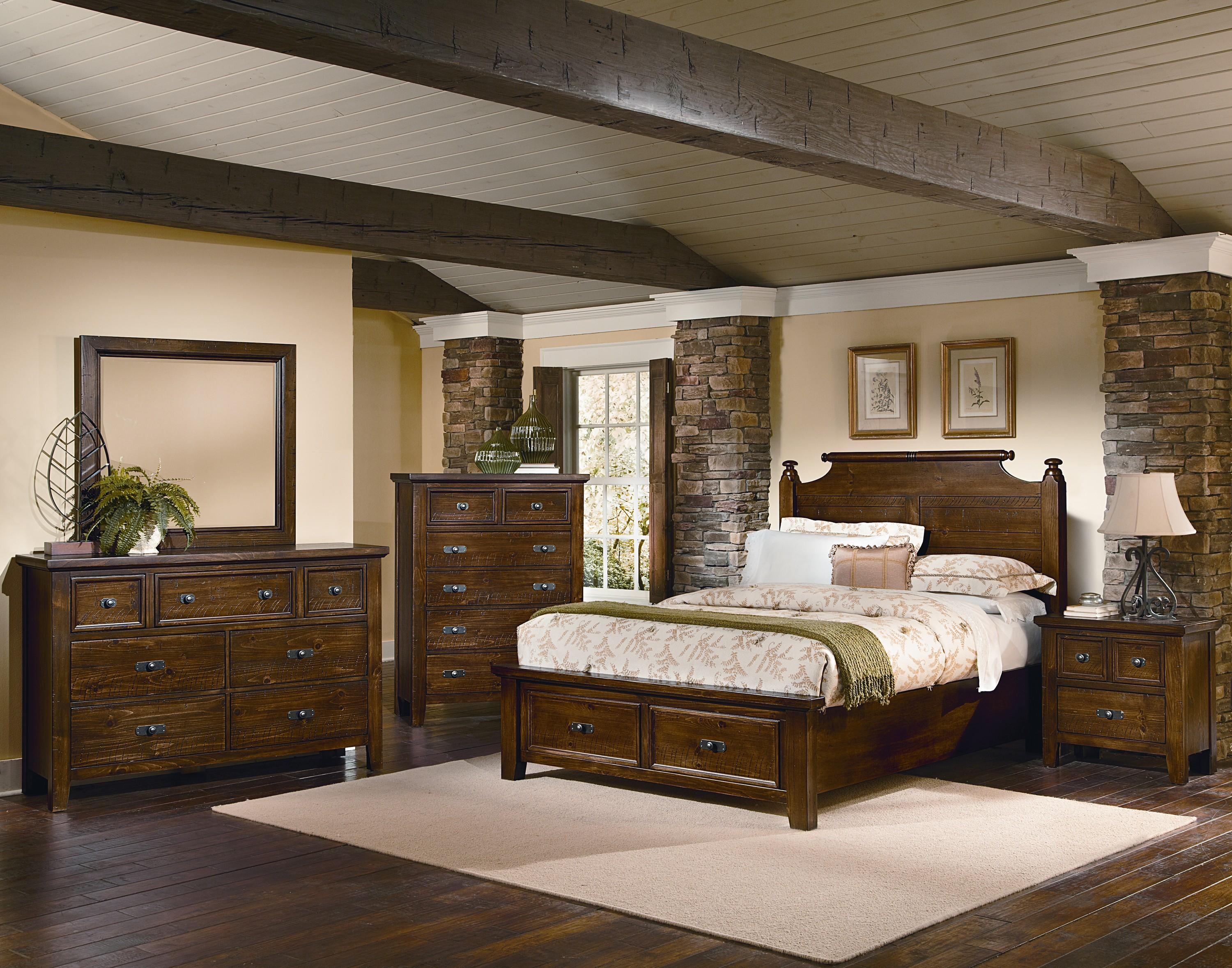 Vaughan Bassett Timber Mill King Bedroom Group - Item Number: BB58 K Bedroom Group 4