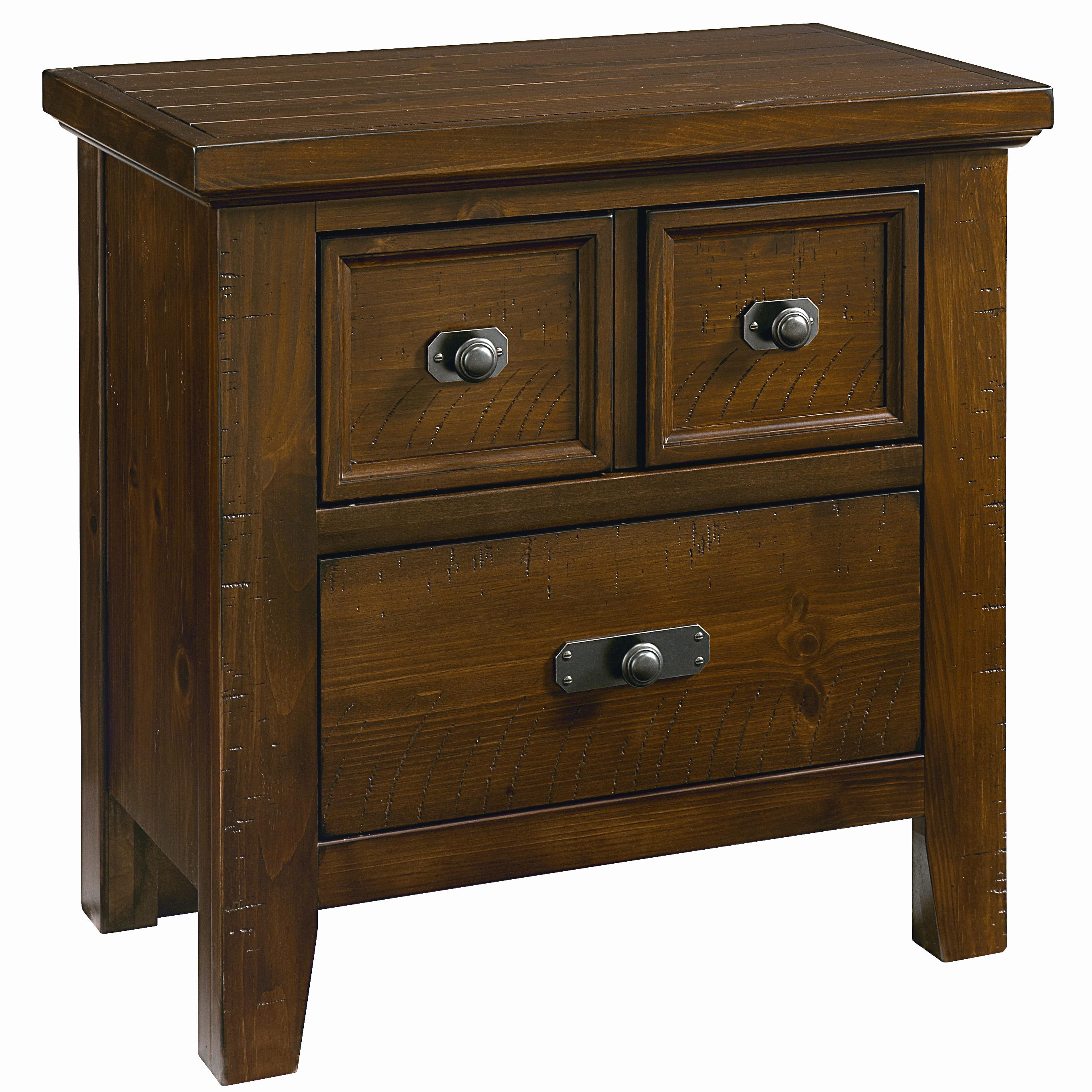 Vaughan Bassett Timber Mill Night Stand - 2 Drawers - Item Number: BB58-226