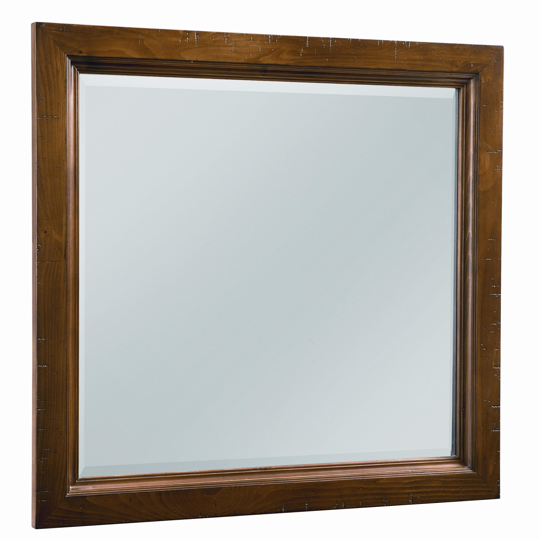 Vaughan Bassett Timber Mill Landscape Mirror - bevel glass - Item Number: BB58-445