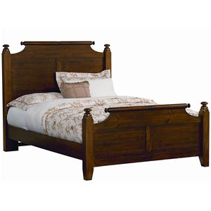 Vaughan Bassett Timber Mill King Broomhandle Poster Bed