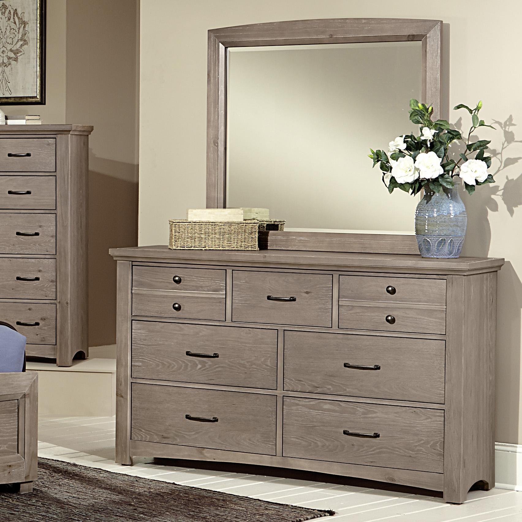 Vaughan Bassett Transitions Dresser & Landscape Mirror - Item Number: BB61-002+446