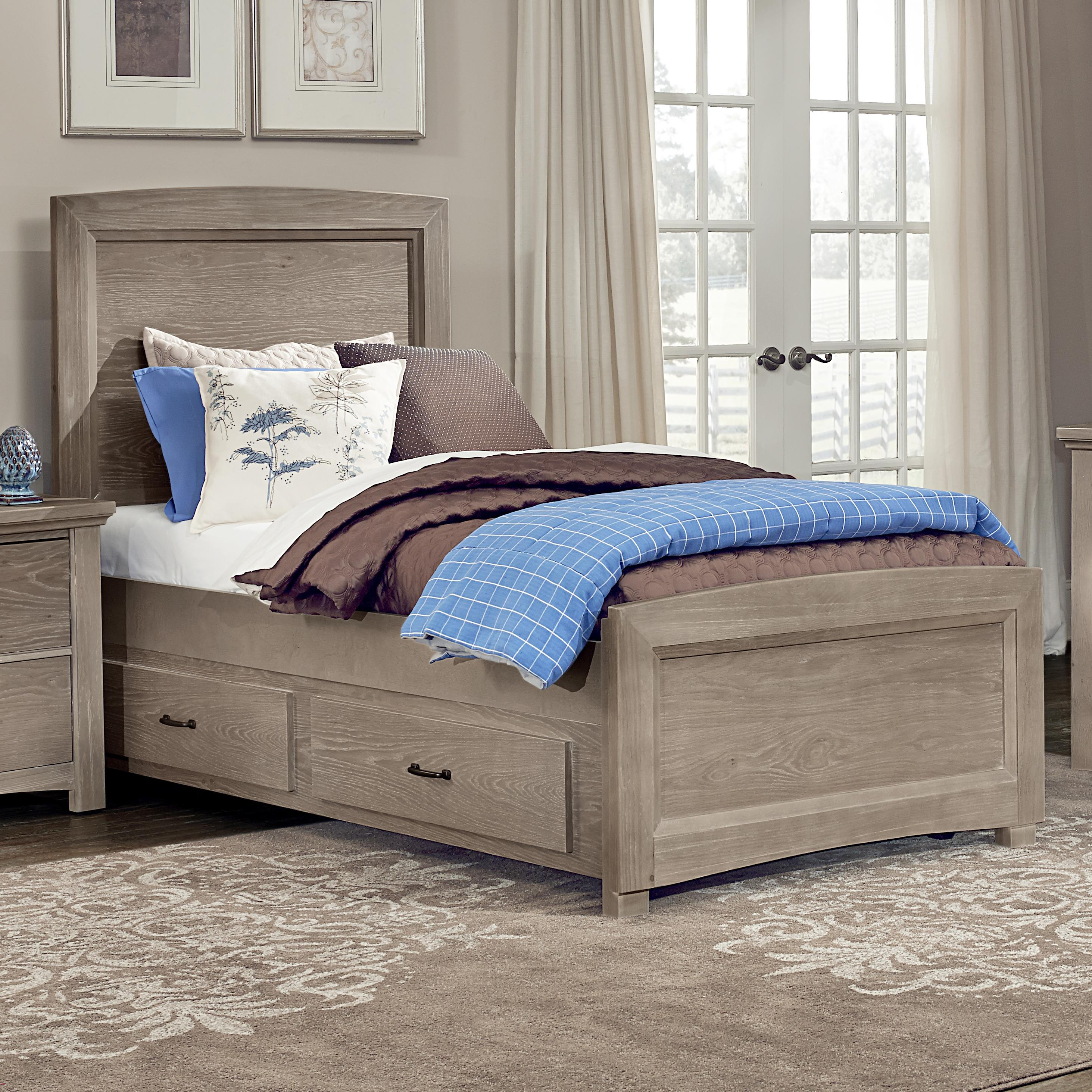 Vaughan Bassett Transitions Twin Panel Bed with Trundle - Item Number: BB61-338+833+900+822A+822B+333T