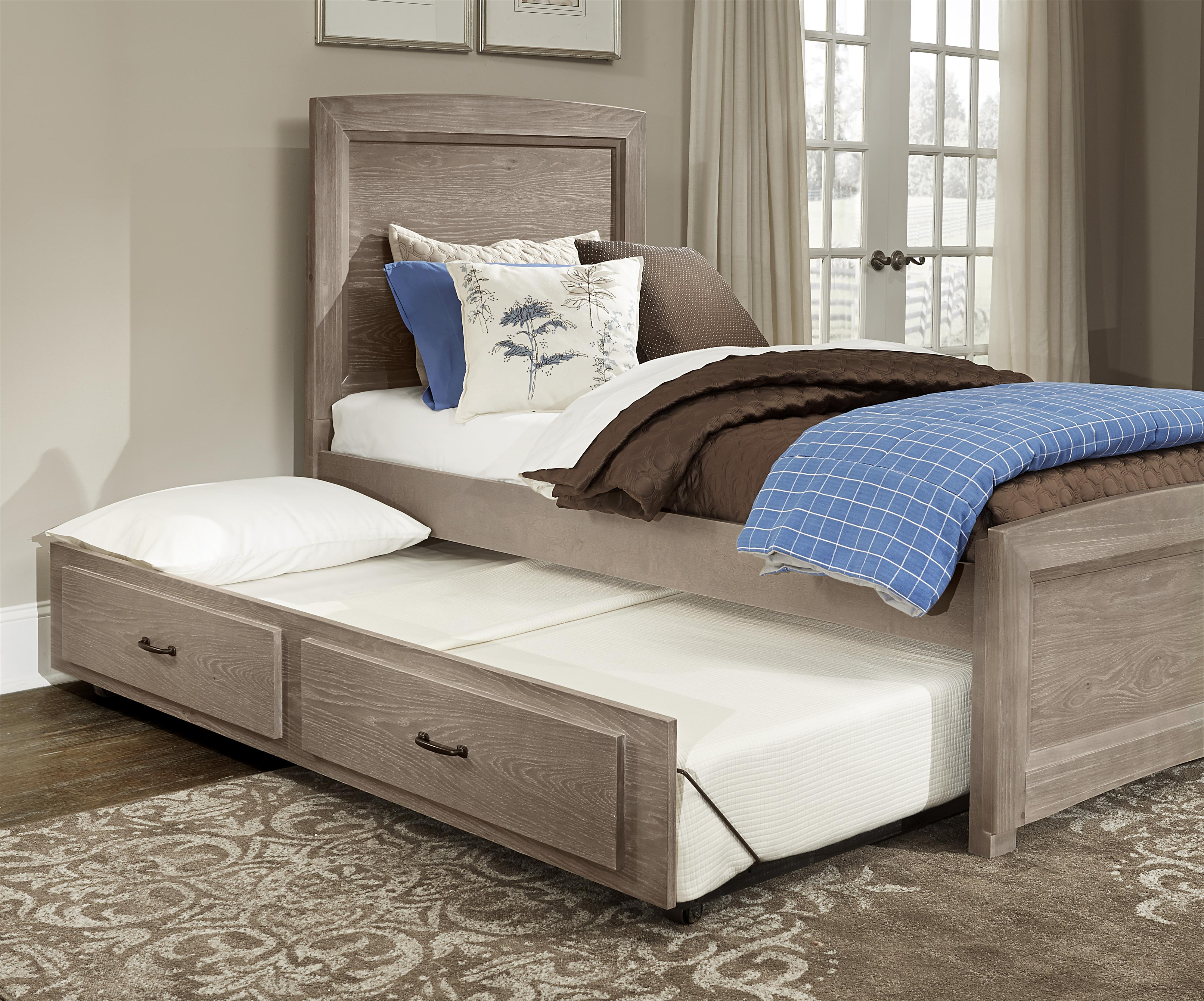 Twin Panel Bed With Trundle Transitions By Vaughan