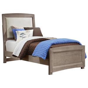 Vaughan Bassett Transitions Full Upholstered Bed, Base Cloth Linen