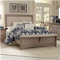 Vaughan Bassett Transitions Queen Upholstered Bed, Base Cloth Linen - Item Number: BB61-559+955+922
