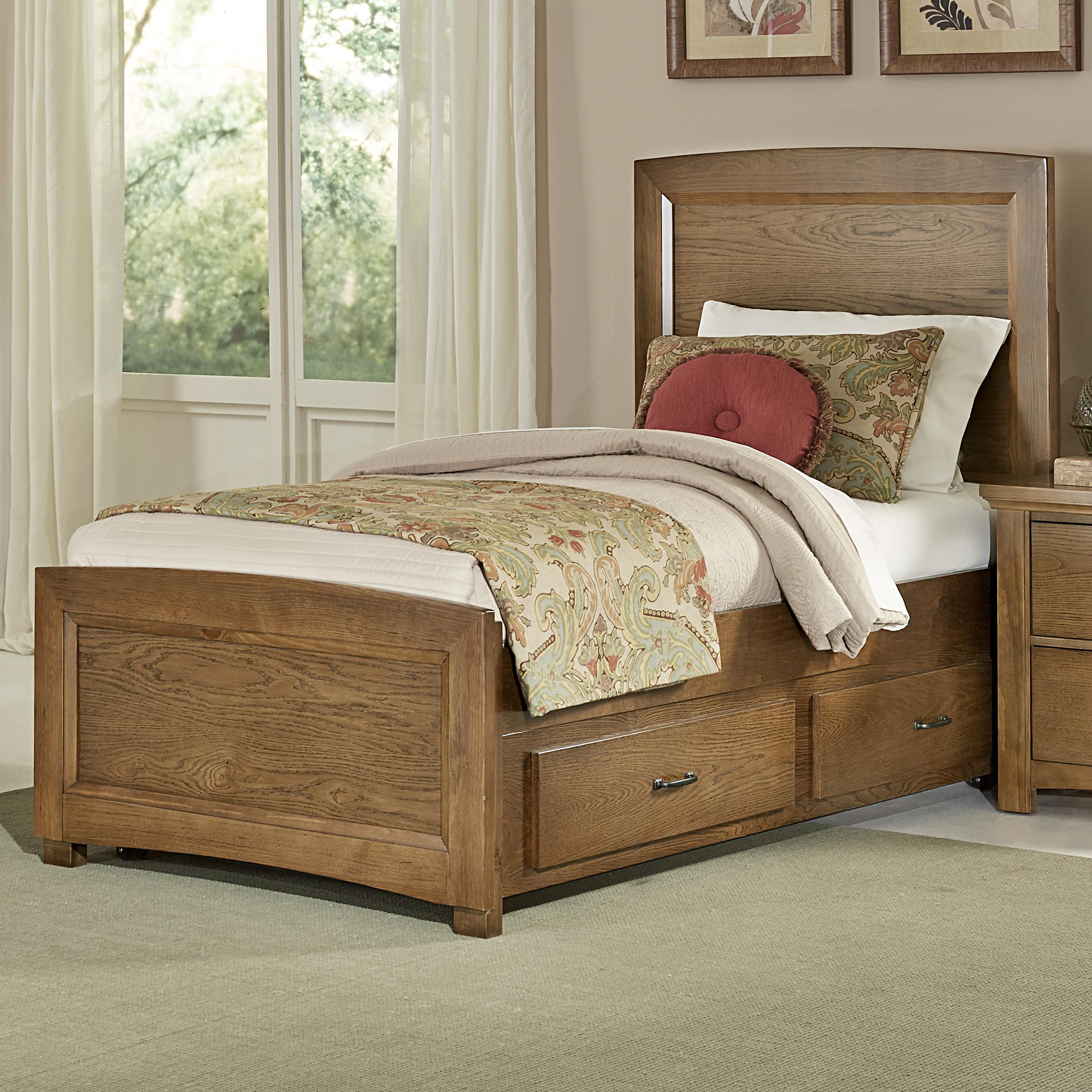 Vaughan Bassett Transitions Twin Panel Bed With Trundle Great American Home Store Platform
