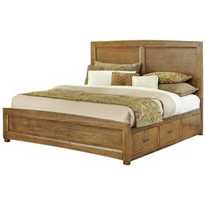 Vaughan Bassett Transitions Queen Panel Bed with 1 Side Storage