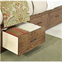 Vaughan Bassett Transitions King Panel Bed with 1 Side Storage