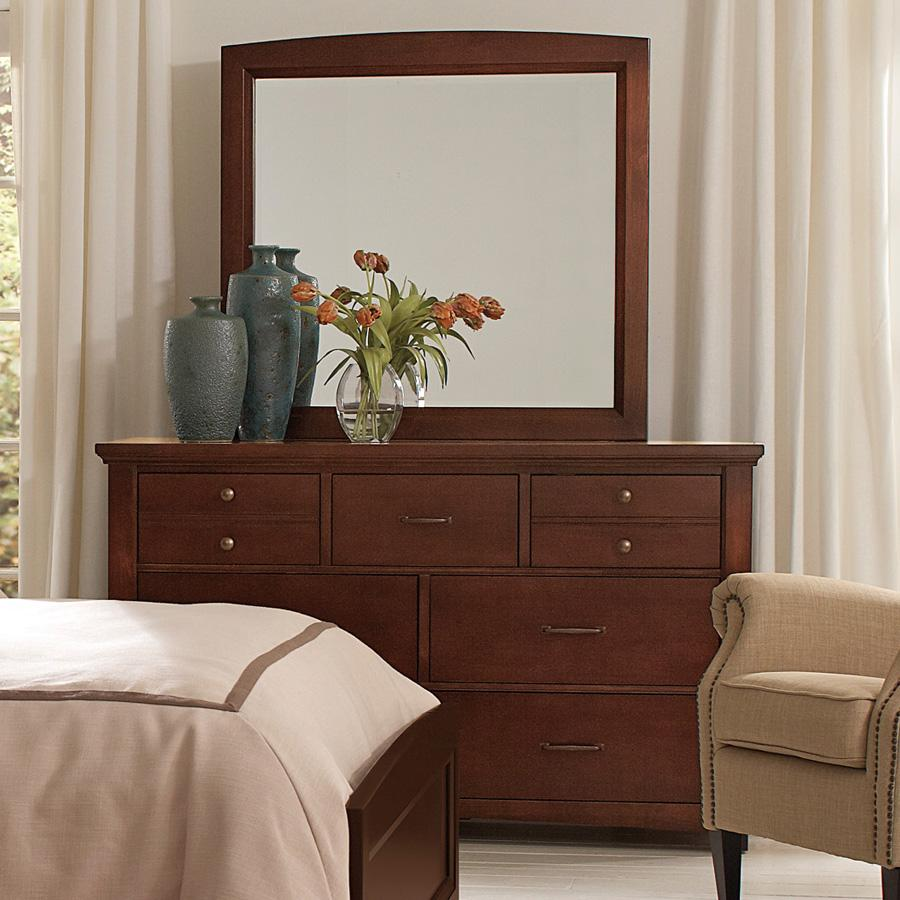 Vaughan Bassett Transitions Dresser & Landscape Mirror - Item Number: BB68-002+446