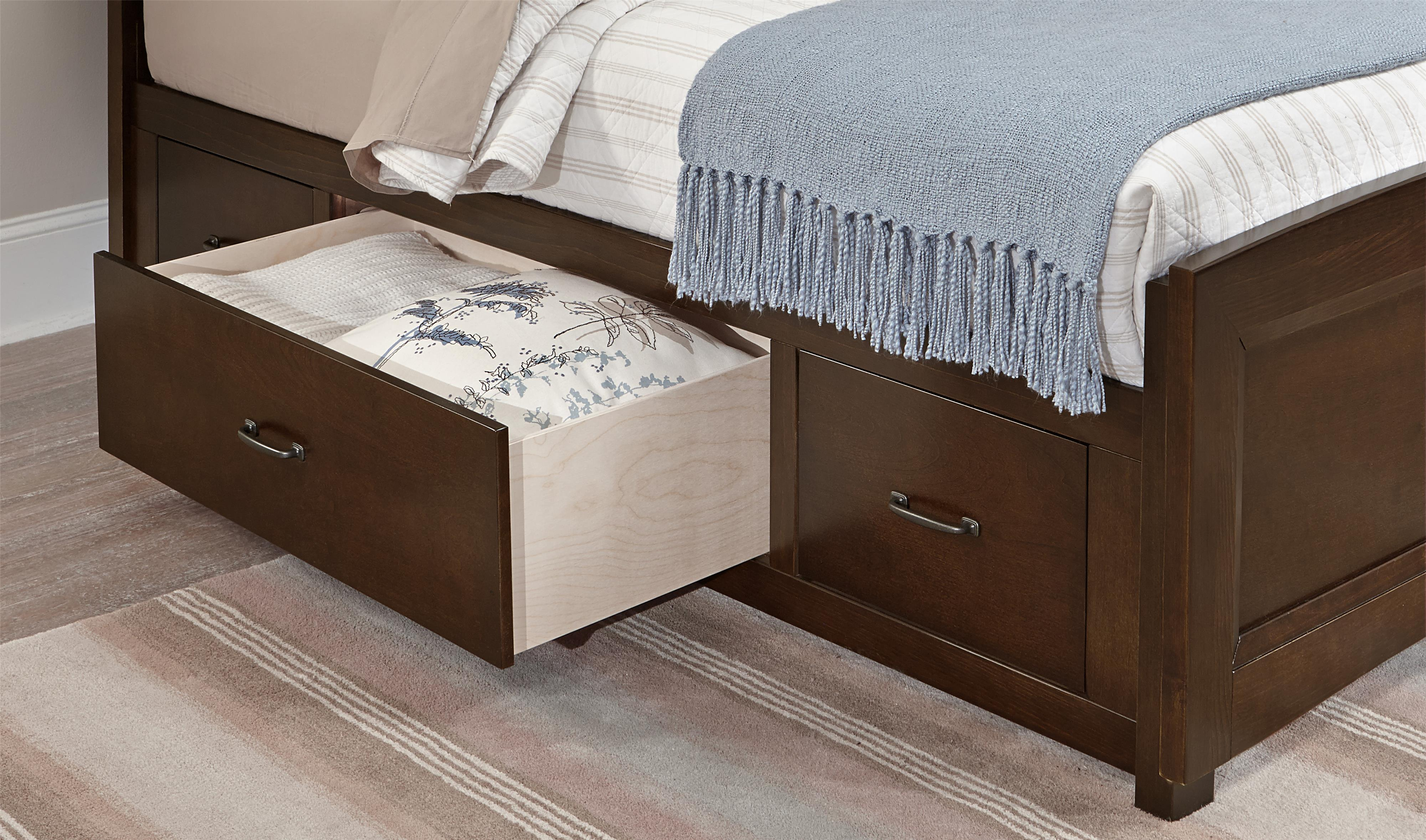 Vaughan Bassett Transitions Twin Panel Bed With Underbed