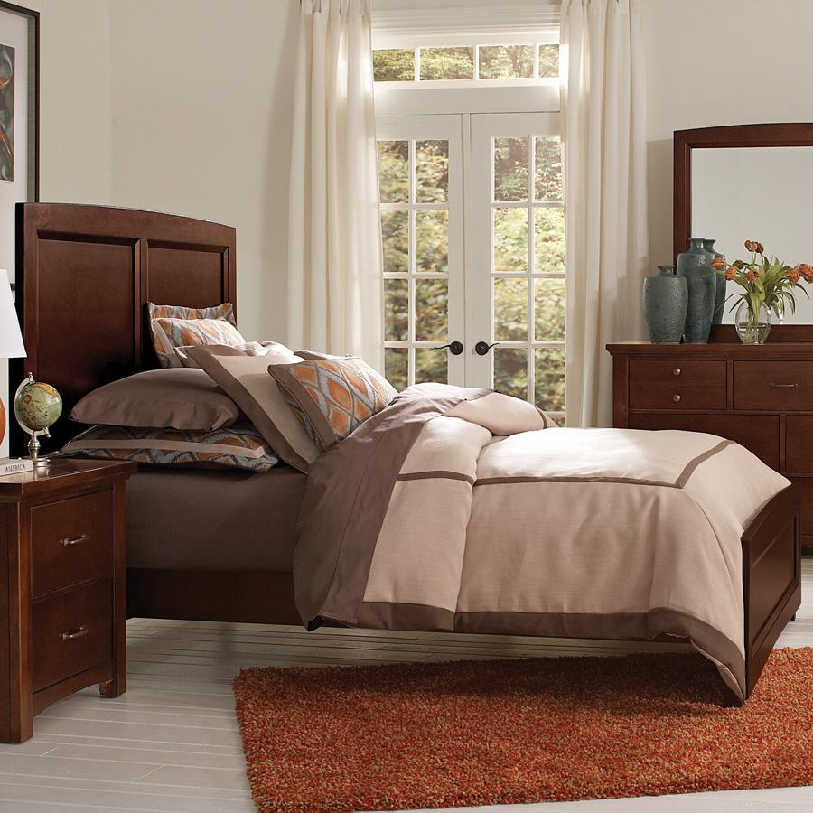 Vaughan Bassett Transitions Queen Panel Bed - Item Number: BB68-558+855+922