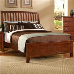 Vaughan Bassett Twilight King Slat Headboard Bed