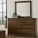 Vaughan Bassett Urban Crossings Dresser and Mirror - Item Number: 700-002+446