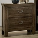 Vaughan Bassett Urban Crossings 2 Drawer Nightstand  - Item Number: 700-226