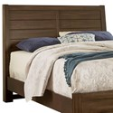 Vaughan Bassett Urban Crossings King Plank Headboard - Item Number: 700-669