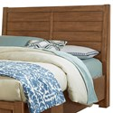 Vaughan Bassett Urban Crossings Queen Plank Headboard - Item Number: 702-559