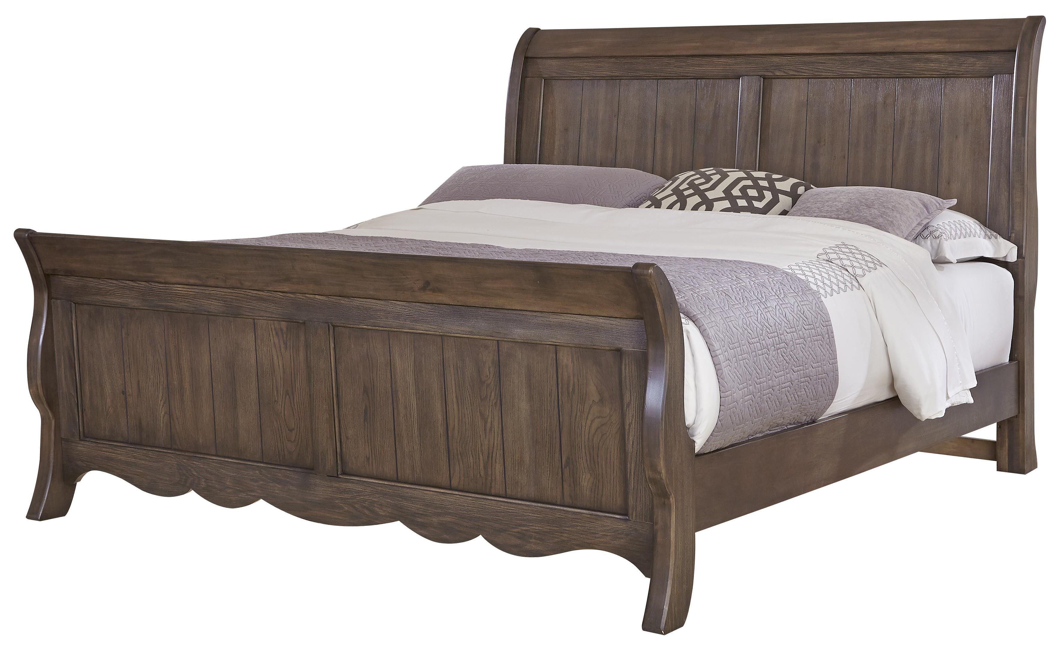 Vaughan Bassett Villa Sophia Queen Sleigh Bed - Item Number: 520-553+355+722