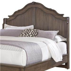 Vaughan Bassett Villa Sophia Queen Shelter Bed Headboard