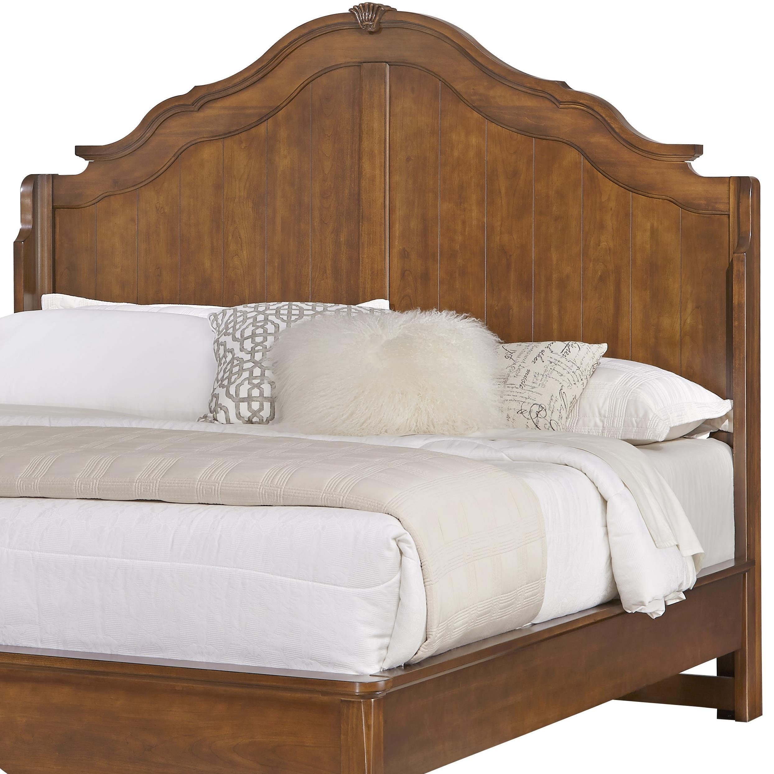 Vaughan Bassett Villa Sophia King Shelter Bed Headboard - Item Number: 522-667