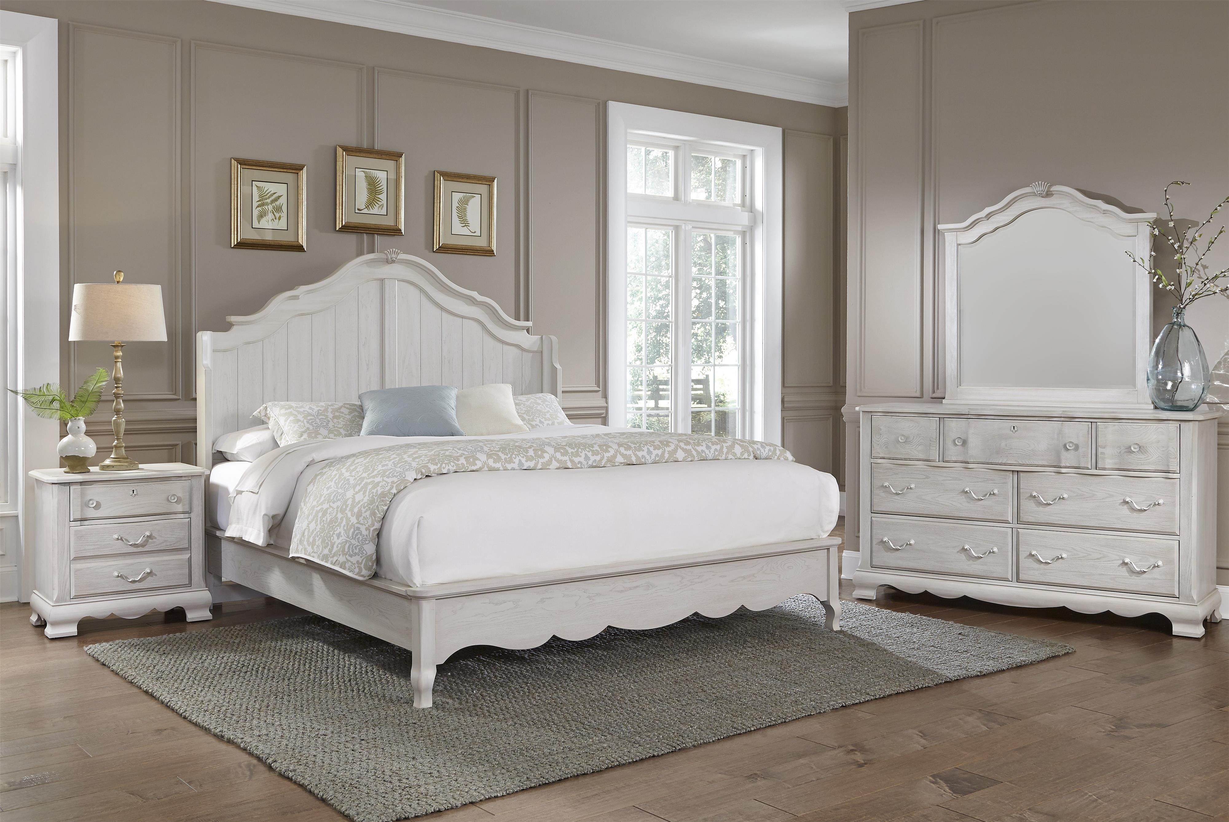 Vaughan Bassett Villa Sophia King Bedroom Group - Item Number: 524 K Bedroom Group 1