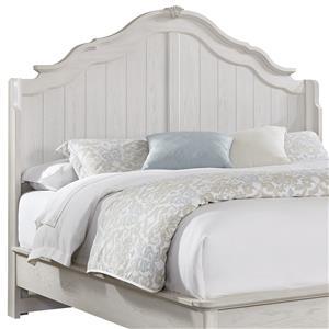 Vaughan Bassett Villa Sophia King Shelter Bed Headboard