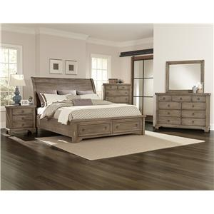 Vaughan Bassett Whiskey Barrel Queen Bedroom Group