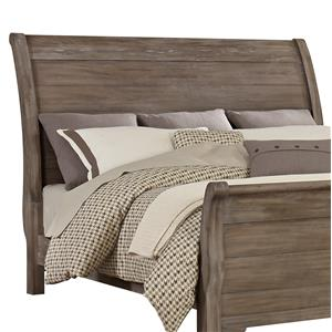 Vaughan Bassett Whiskey Barrel Queen Sleigh Headboard