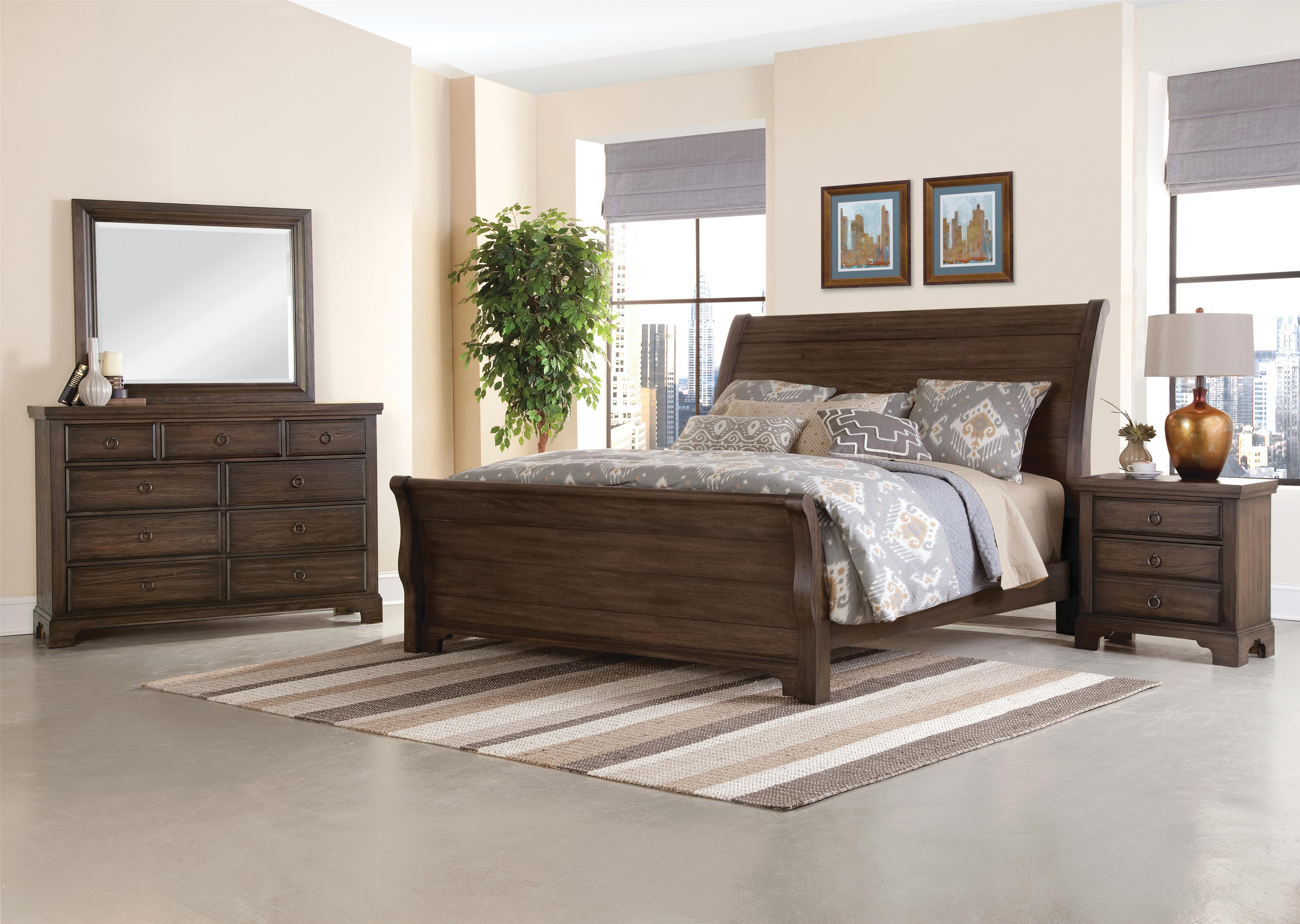 Vaughan Bassett Whiskey Barrel Queen Bedroom Group - Item Number: 816 Q Bedroom Group 1