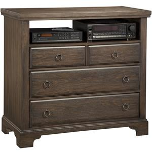 Vaughan Bassett Whiskey Barrel Media Chest - 4 Drawers