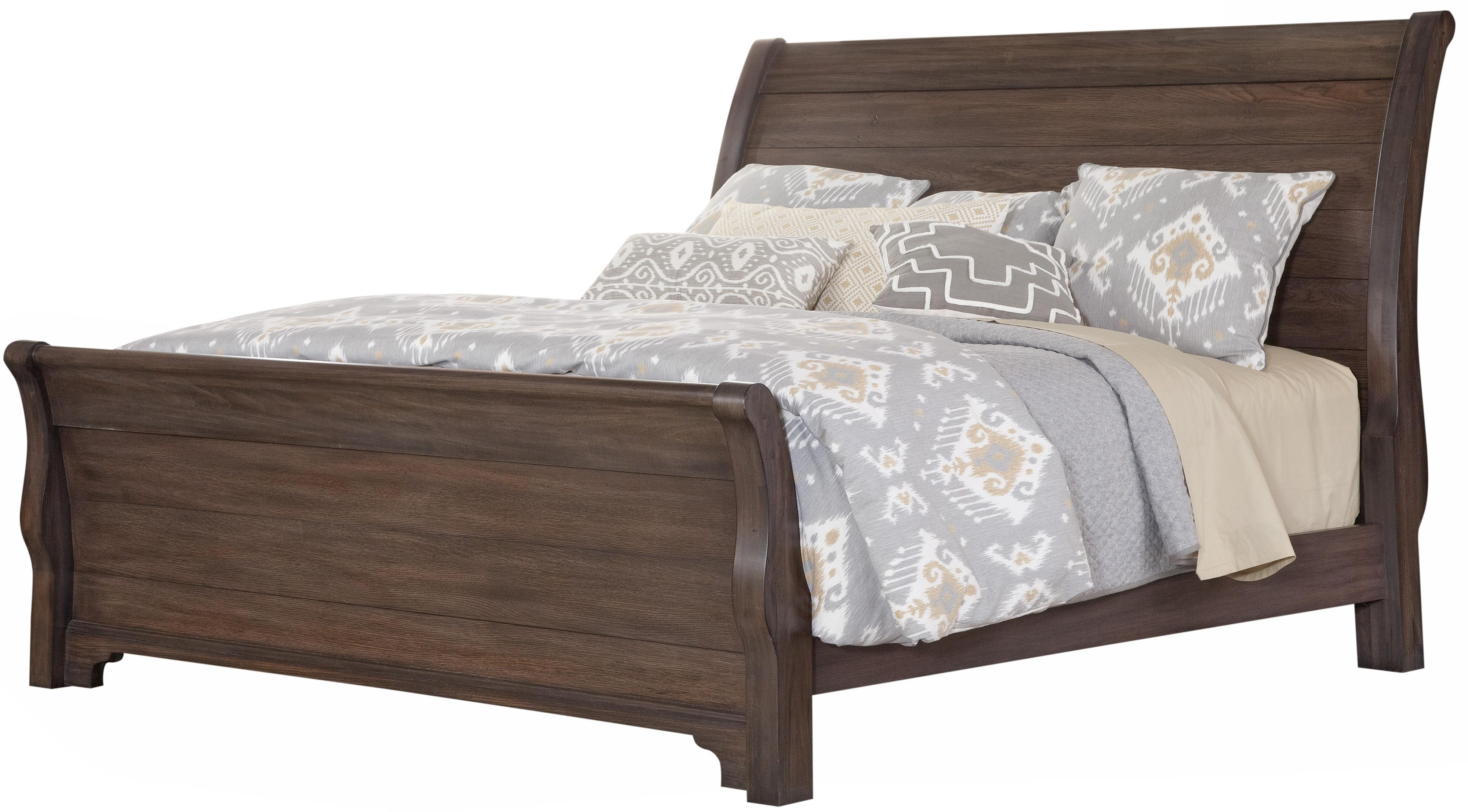 Vaughan Bassett Whiskey Barrel King Sleigh Bed - Item Number: 816-663+366+722+MS2