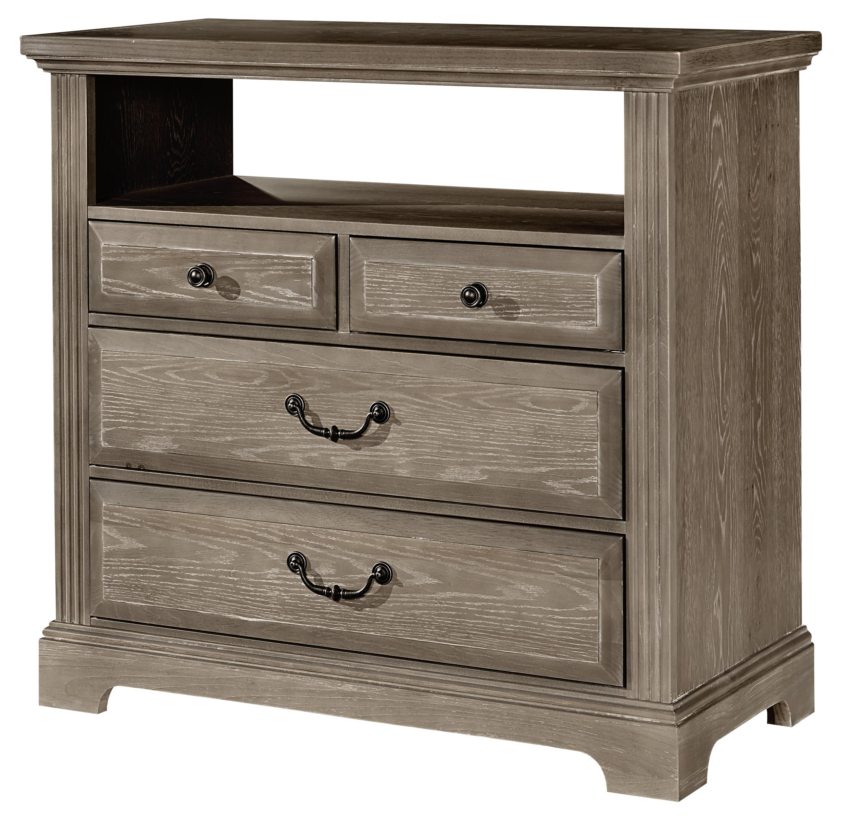 Vaughan Bassett Woodlands Media Chest - 4 drawers - Item Number: BB96-114