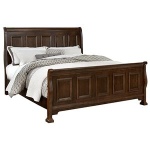 Vaughan Bassett Woodlands Queen Sleigh Bed