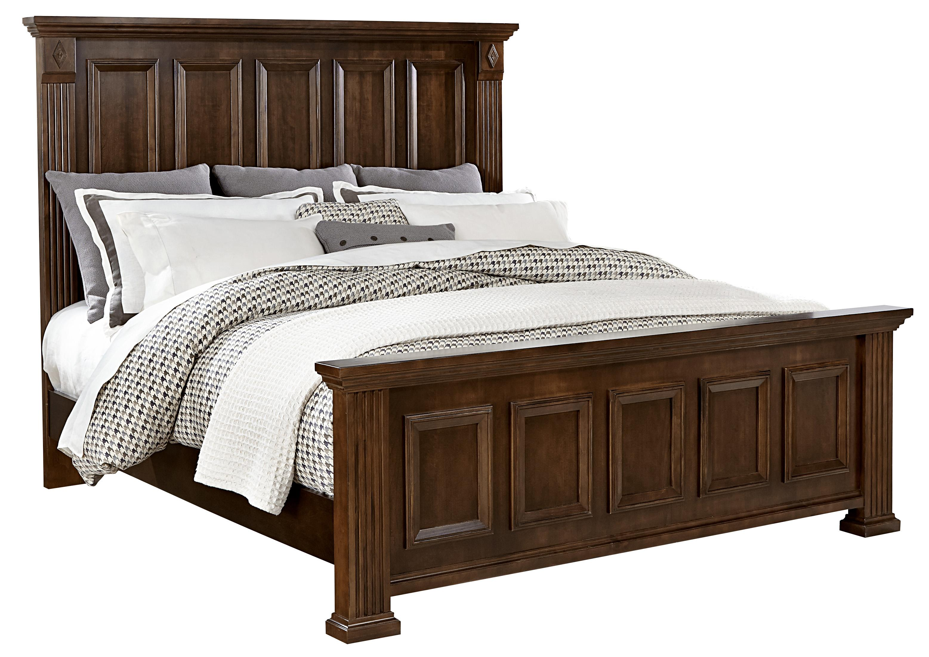 Vaughan Bassett Woodlands Queen Mansion Bed - Item Number: BB98-559+955+922