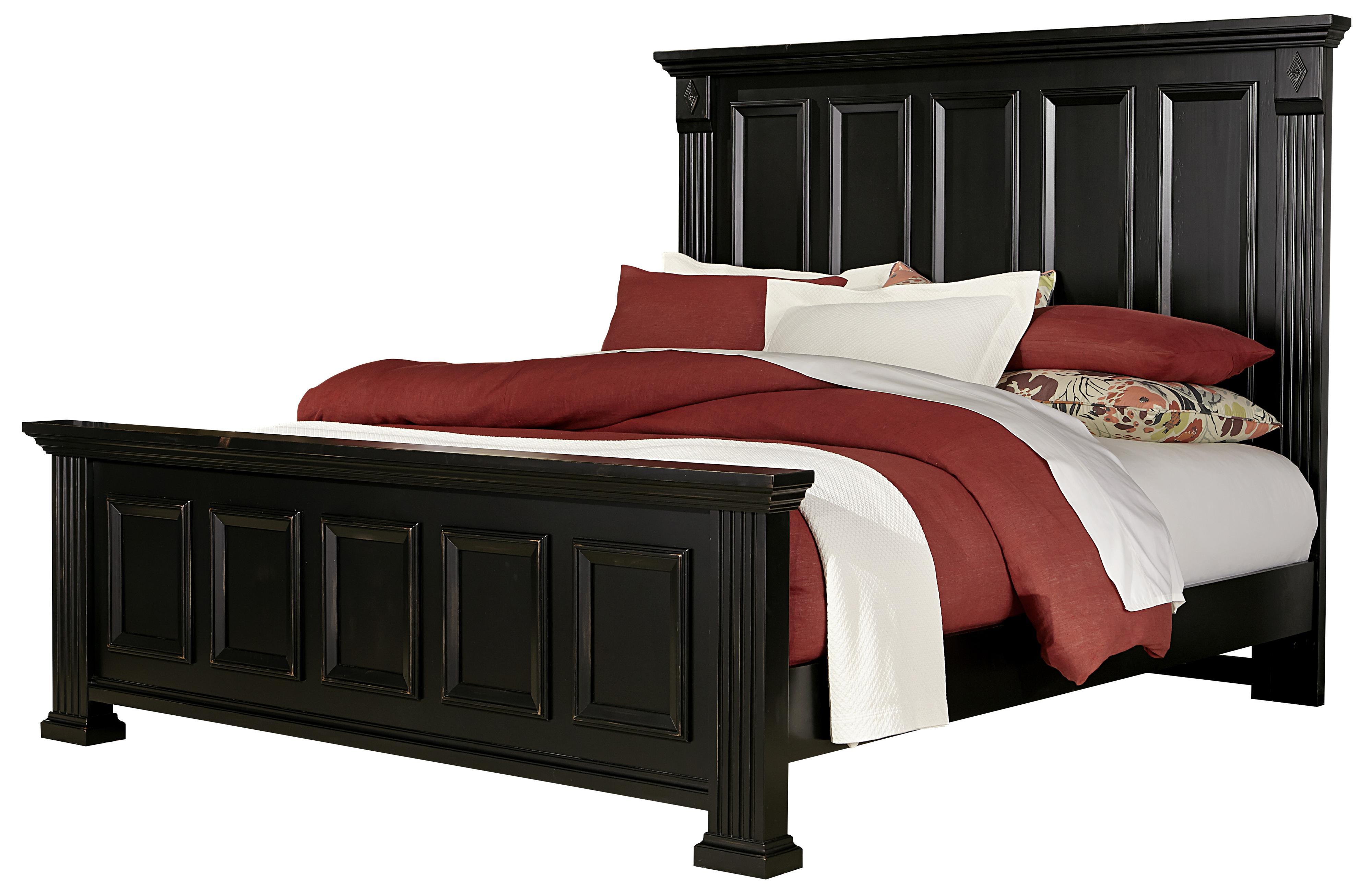 Vaughan Bassett Woodlands Queen Mansion Bed - Item Number: BB99-559+955+922