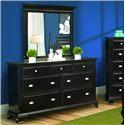 Vaughan Furniture Chelsea  Dresser & Mirror - Item Number: 865-02+02M