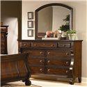 Vaughan Furniture Georgetown 9 Drawer Dresser and Mirror Set - Item Number: 625-02+21