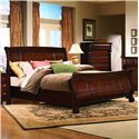 Vaughan Furniture Georgetown King-Size Traditional Sleigh Bed - 625-34H+34F+33R - Bed Shown May Not Represent Size Indicated