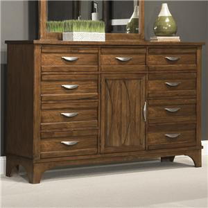 Dresser with 9 Drawers and 1 Door