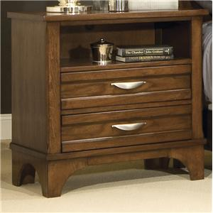 Nightstand with 2 Drawers and 1 Open Shelf