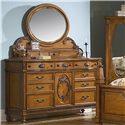 Vaughan Furniture Southern Heritage Dresser and Mirror Set - Item Number: 327-03+24